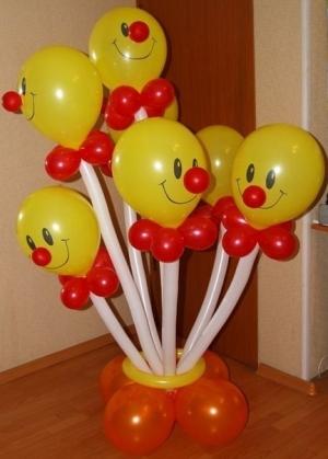 """Букет """"Клоуны в вазе"""" 7шт."""