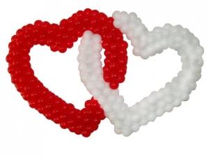 """Фигура из шаров """"Двойное сердце"""""""