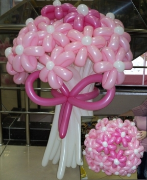"""Букет """"Розовые ромашки 21 цветок"""""""