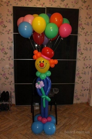 """Фигура """"Клоун с шарами"""""""